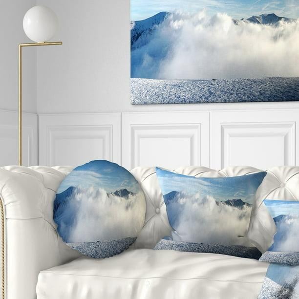 Design Art Designart Beautiful Winter Landscape Photography Throw Pillow Walmart Com Walmart Com