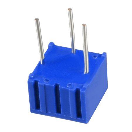 Resistors 50 Ohm Top Adjustment Horizontal Cermet Potentiometer 3 Pcs - image 5 of 6