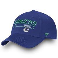 Vancouver Canucks Fanatics Branded Authentic Pro Rinkside Fundamental Adjustable Hat - Blue - OSFA