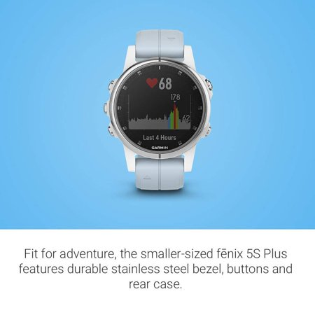 Fenix 5S Plus - Sapphire, (White with Sea Foam Band) - Compact Multisport watch with Music, Maps, and (Sea To Summit Reactor Plus Thermolite Compact Liner)