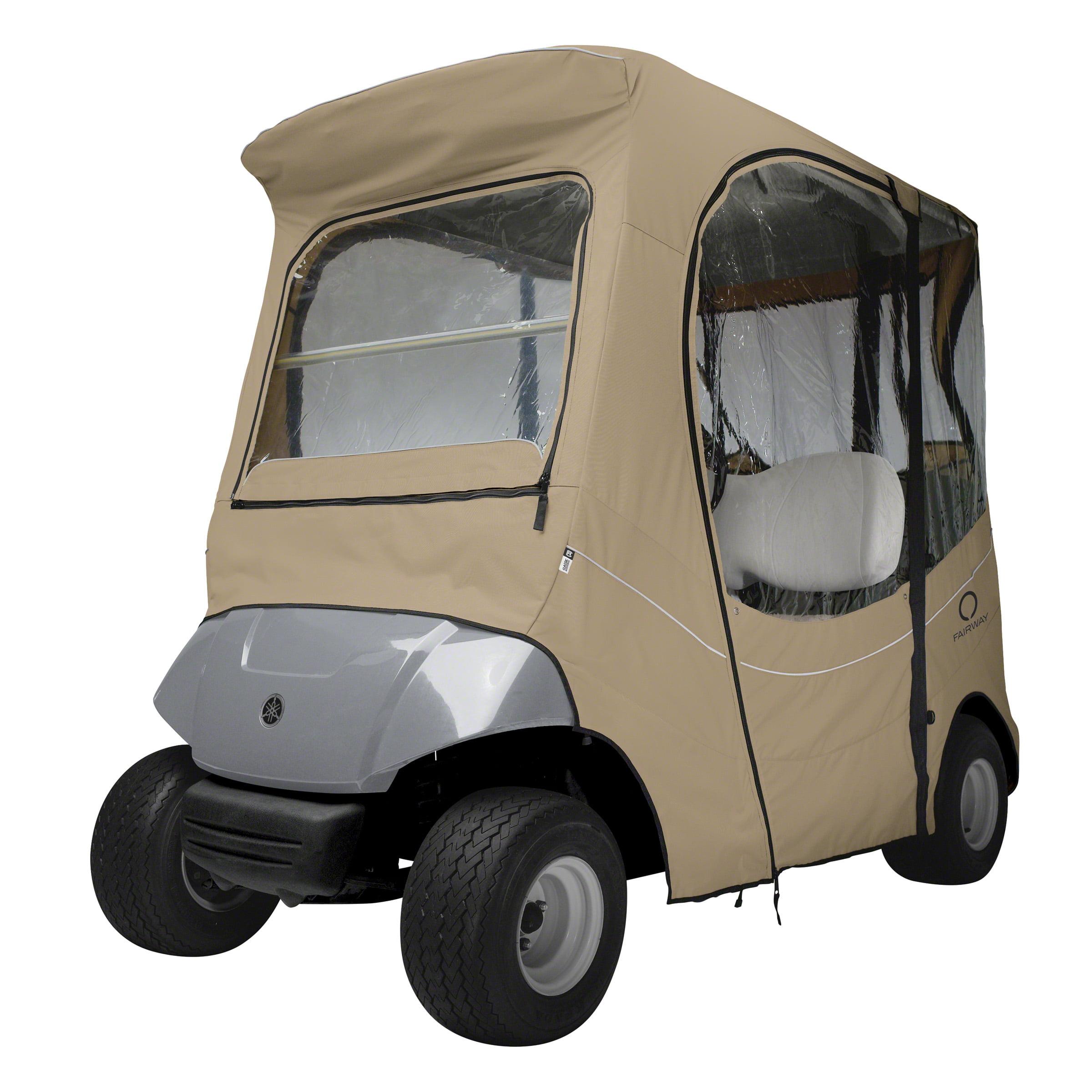 Classic Accessories Fairway Short Roof The Drive by Yamaha FadeSafe Golf Cart Enclosure - Khaki