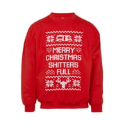 Mens Merry Christmas (S-Word) Full Ugly Sweater