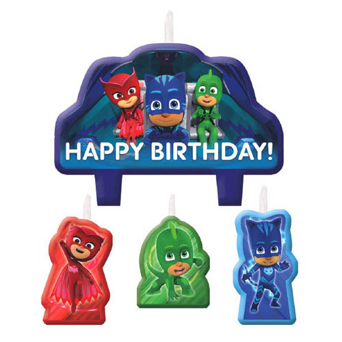 PJ Masks Mini Candle Set (4pc)