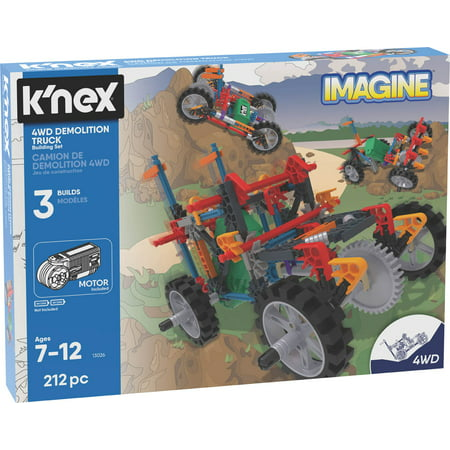 K'NEX Imagine – 4WD Demolition Truck Building Set – 402 Pieces – Ages 7+ – Engineering Educational Toy
