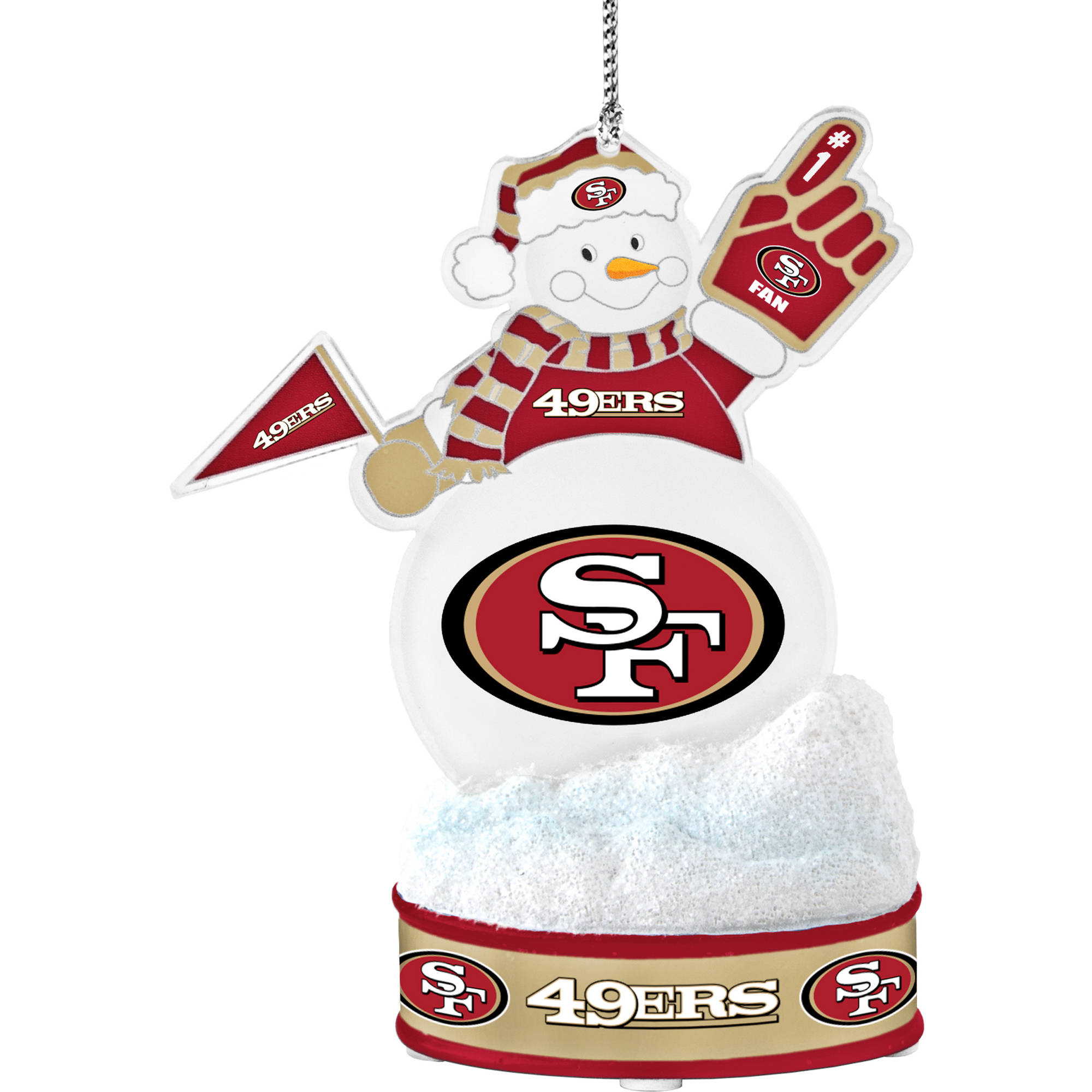Topperscot by Boelter Brands NFL LED Snowman Ornament, San Francisco 49ers