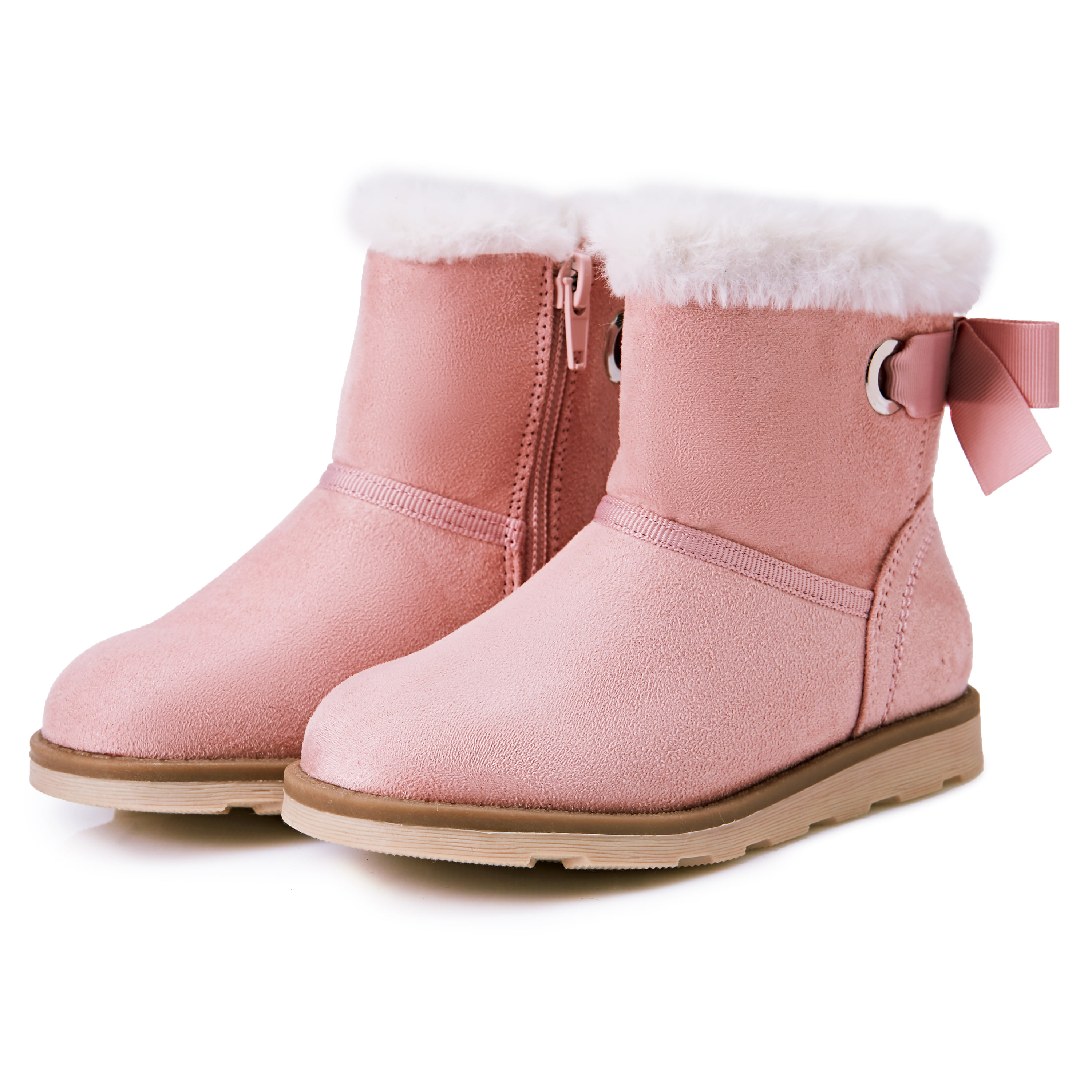 Kids Girls Boys Side Zipper Flat Ankle Boots School Breathable Boot Shoes Size
