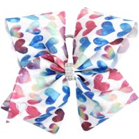 JoJo Siwa Hair Bow, Colorful Hearts