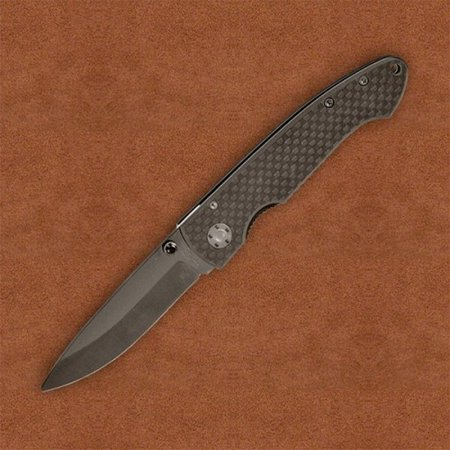 Stone River SRG2CFB Ceramic Folding Knife Black Folder Blade/Carbon Fiber Handle