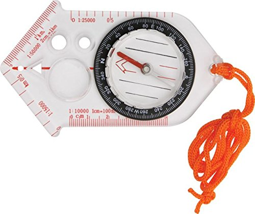 Explorer Compass 53 Base Plate Compass with Clear Acrylic Construction Multi-Colored by EXPLORER