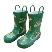 Foxfire FOX-600-30-13 Childrens Green Construction Rain Boot - Size 13
