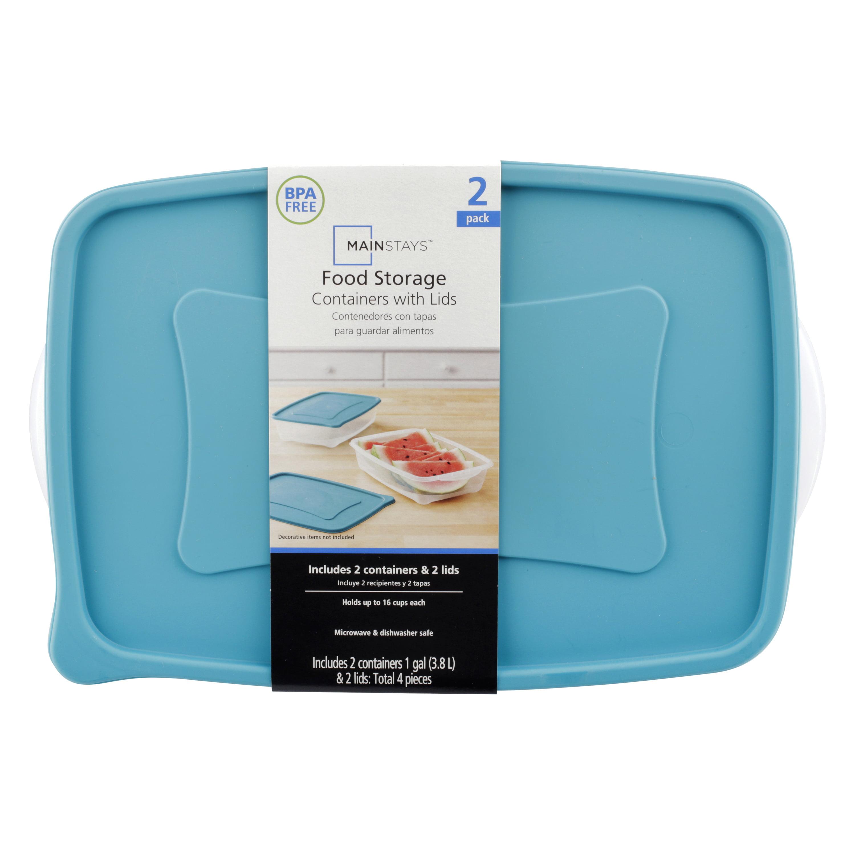 2 Pack Rectangle Food Storage Set