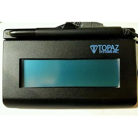 topaz signaturegem t-lbk462-hsb-r 1x5 backlit lcd signature capture pad usb connection (Topaz Sig Pad)