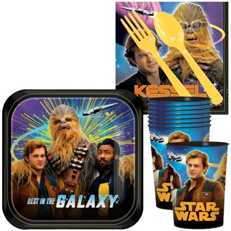 Star Wars Party Supplies Clearance (Star Wars Hans Solo Standard Tableware Kit With Plastic Favor Cups (Serves)
