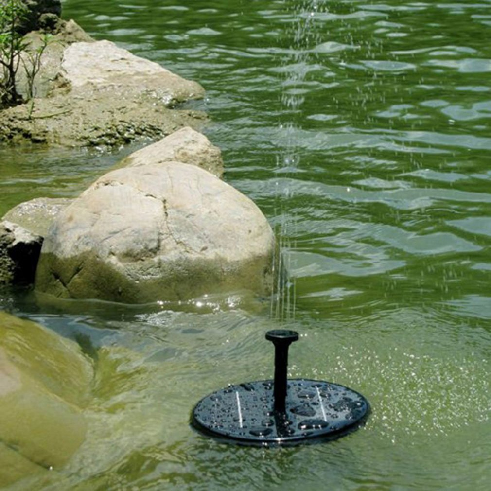 Solar Powered Water Pump Garden Fountain Floating Panel Watering Pond Kit  For Waterfalls Water Display