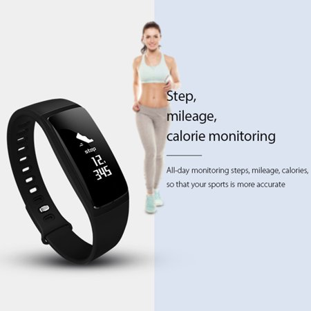 Fitness Tracker with Heart Rate Monitor Waterproof Blood Oxygen Monitor OLED Touch Screen for Women Men Kids - image 4 de 14