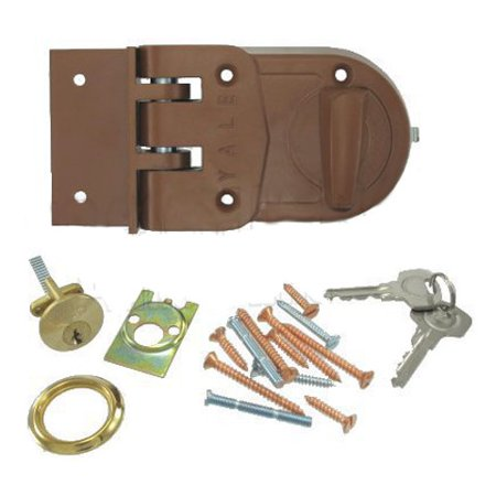 Yale V197 Jimmy Proof Deadlock, Key Outside/Thumb Turn Inside, Sprayed Bronze