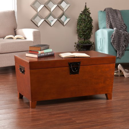Pyramid Trunk Coffee Table, Transitional style, Mission Oak
