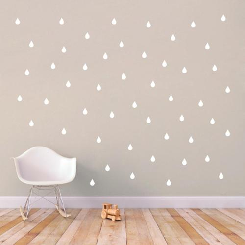 Set of Raindrops Wall Decals BASIC BLUE