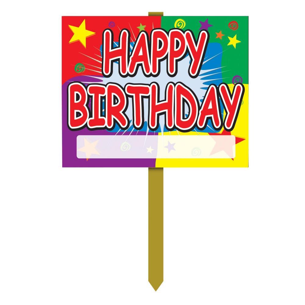 (Pack of 6) Birthday Party Happy Birthday Yard Sign