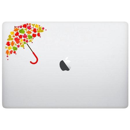 Laptop notebook Sticker Decal - Autumn umbrella leaves fall - Skins Stickers