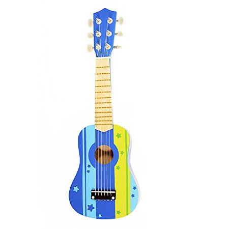 kids wooden ukulele toy guitar instrument blue. Black Bedroom Furniture Sets. Home Design Ideas