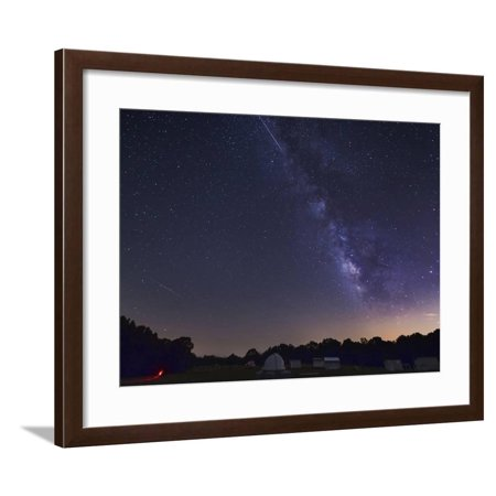 Milky Way And Perseid Meteor Shower, Oklahoma Framed Print Wall Art By  Stocktrek Images
