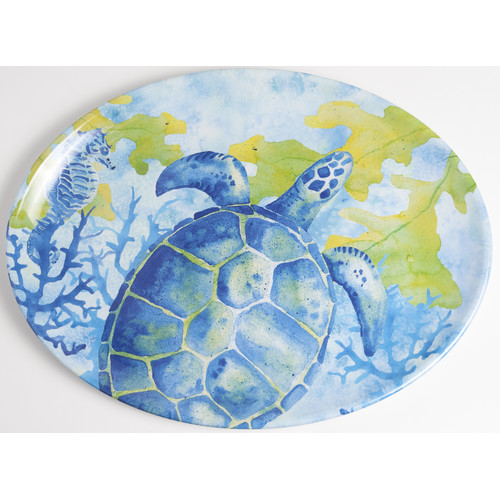 Galleyware Company Yacht and Home Sea Turtle Melamine Platter