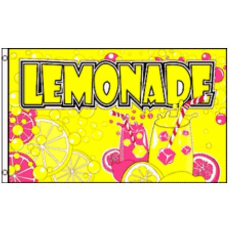 Tent Banner (LEMONADE Flag Business Concession Stand Sign 3 x 5 Foot Banner Lemon Food)