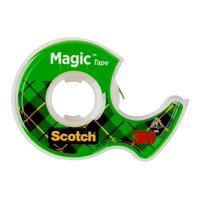 Scotch Magic Tape, 3/4 in. x 300 in., 4 Dispensers/Pack