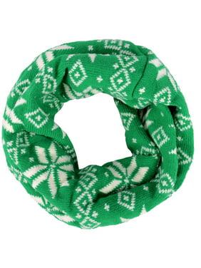 Baby Kids Winter Knit Neck Warms Toddler Infinity Scarf Circle Round Shawl,Green