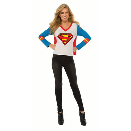 Supergirl Adult Sporty Tee Halloween Costume - Top Halloween Party Songs