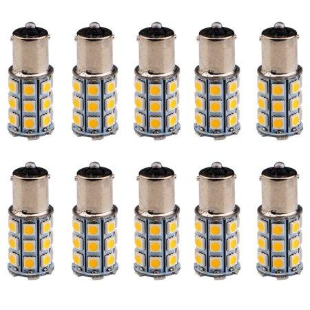 10Pack Warm White 27SMD LED 1156 BA15S/1141 5050 RV Camper Trailer Interior Signal