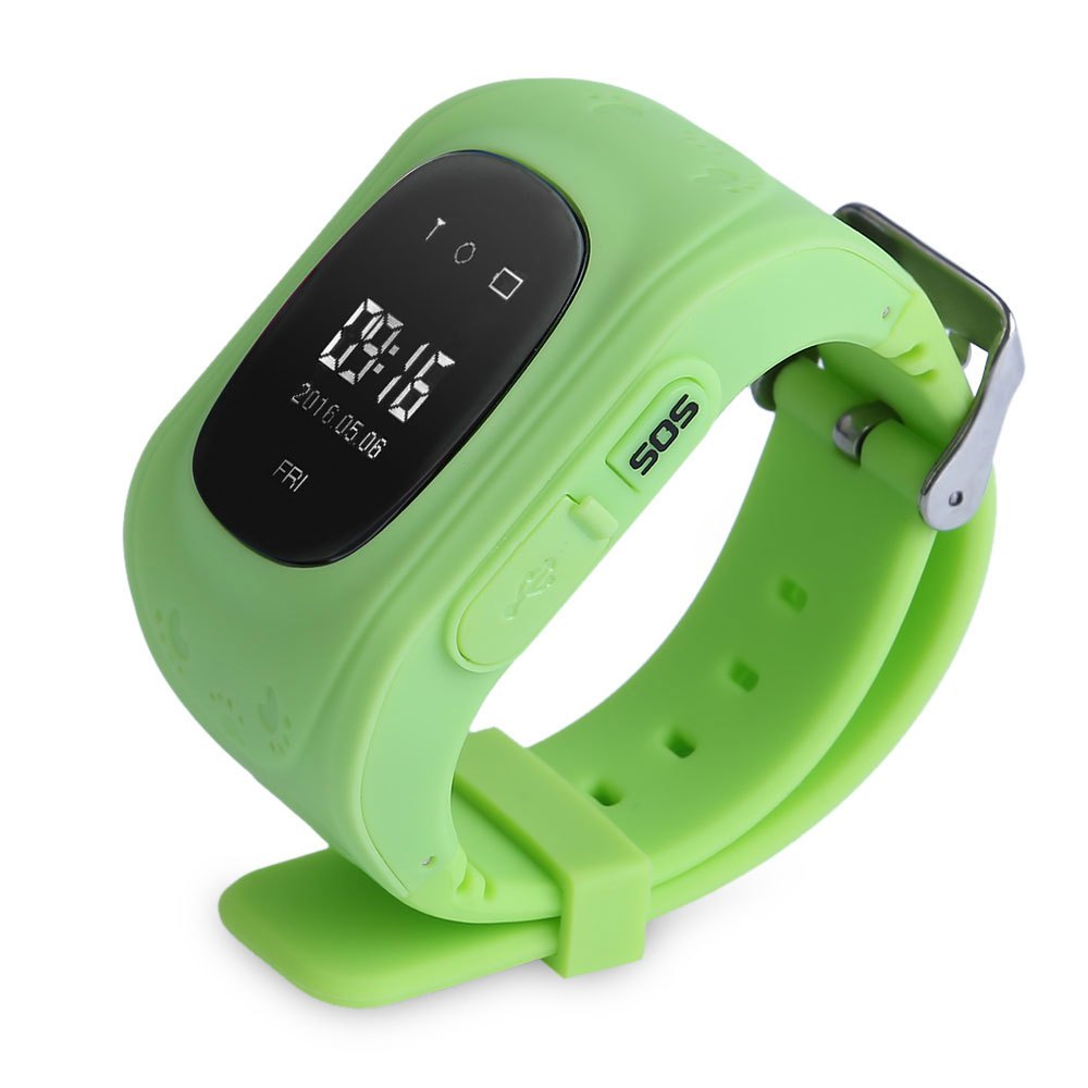 Kids Smart Watch Wristwatch G36 Q50 Gsm Gprs Gps Locator Tracker Smartwatch For With Sim Card Black Anti Lost Child Guard Ios Android Green