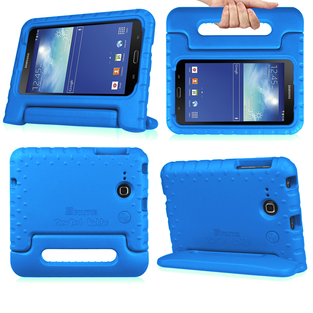 Samsung Galaxy Tab E Lite 7.0 / Tab 3 Lite 7.0 Tablet Kiddie Case Lightweight Shock Proof Stand Cover, Blue