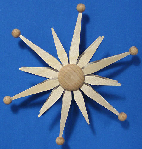 Wooden Star German Ornament  - Made in Germany