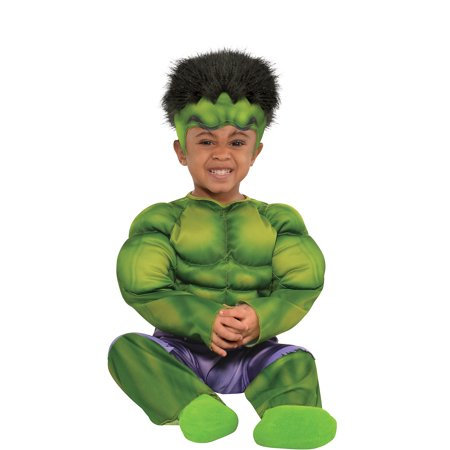 Suit Yourself Hulk Muscle Costume for Babies, Includes a Padded Jumpsuit and a Hat with Hair