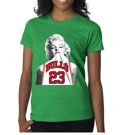 New Way 193 - Women's T-Shirt Marilyn Monroe Bulls 23 Jordan Jersey (Designer Outlet New Jersey)