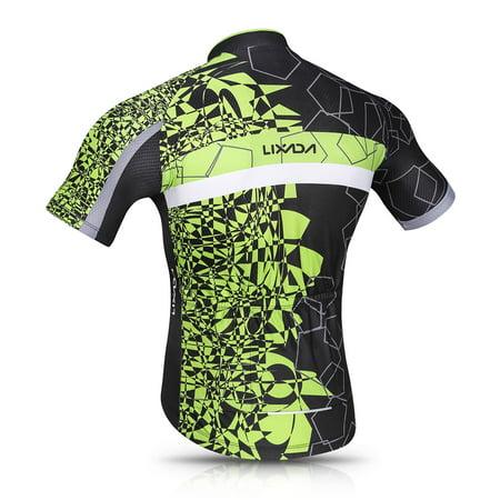 Lixada Men Cycling Jersey Set Breathable Quick-Dry Short Sleeve Biking Shirt and Gel Padded Shorts MTB Cycling Outfit Set - image 5 de 7