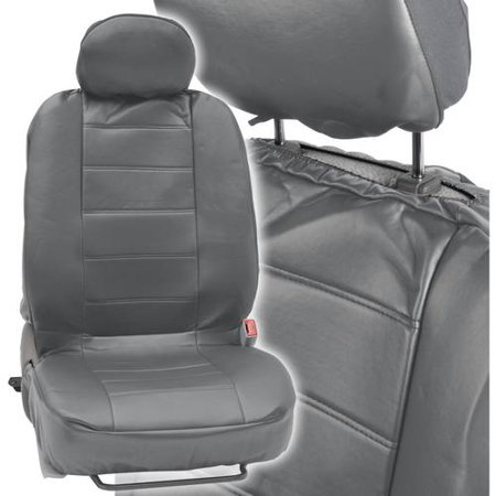 Motor Trend Synthetic Leather Car Seat Covers Front Pair Set Of 2 Premium Leatherette