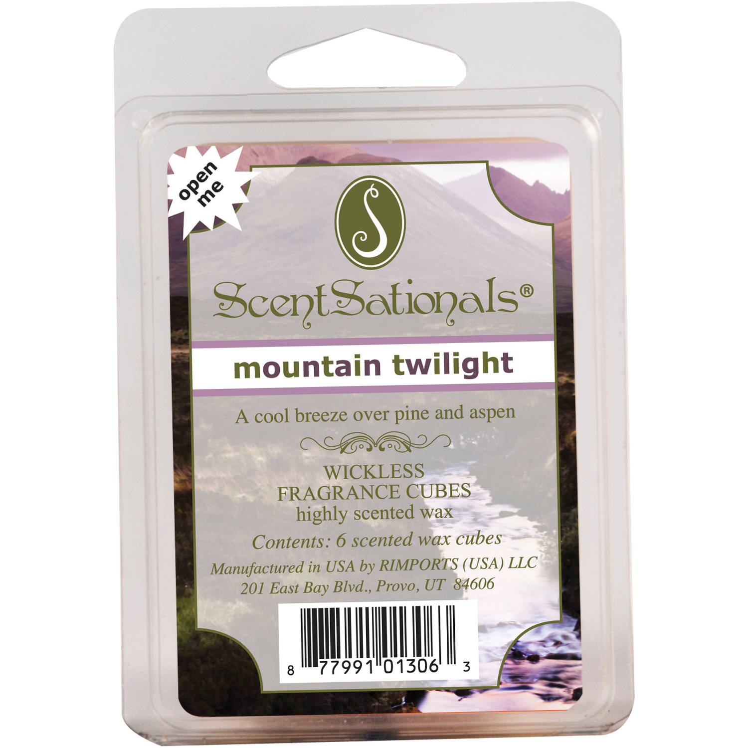 ScentSationals Wickless Fragrance Wax Cubes, Mountain Twilight