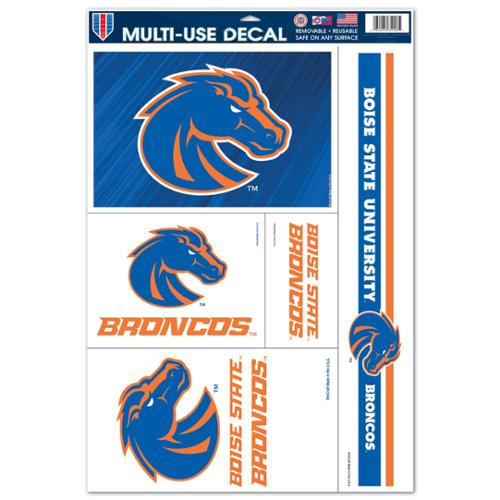 Boise State Broncos Official NCAA 11 inch x 17 inch  Car Window Cling Decal by Wincraft