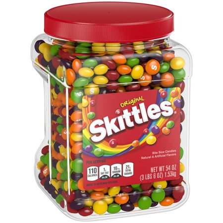 Skittles Original Fruity Candy Jar (54 oz.) (Personalized Skittles)