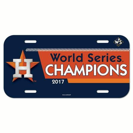 Houston Astros WinCraft 2017 World Series Champions Plastic License Plate - No - Halloween Night Houston 2017
