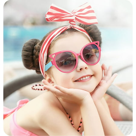 Nacuwa Kids Sunglasses, 100% UV Proof Rubber Flexible Kids Sunglasses Girls Age (Proofs Sunglasses)