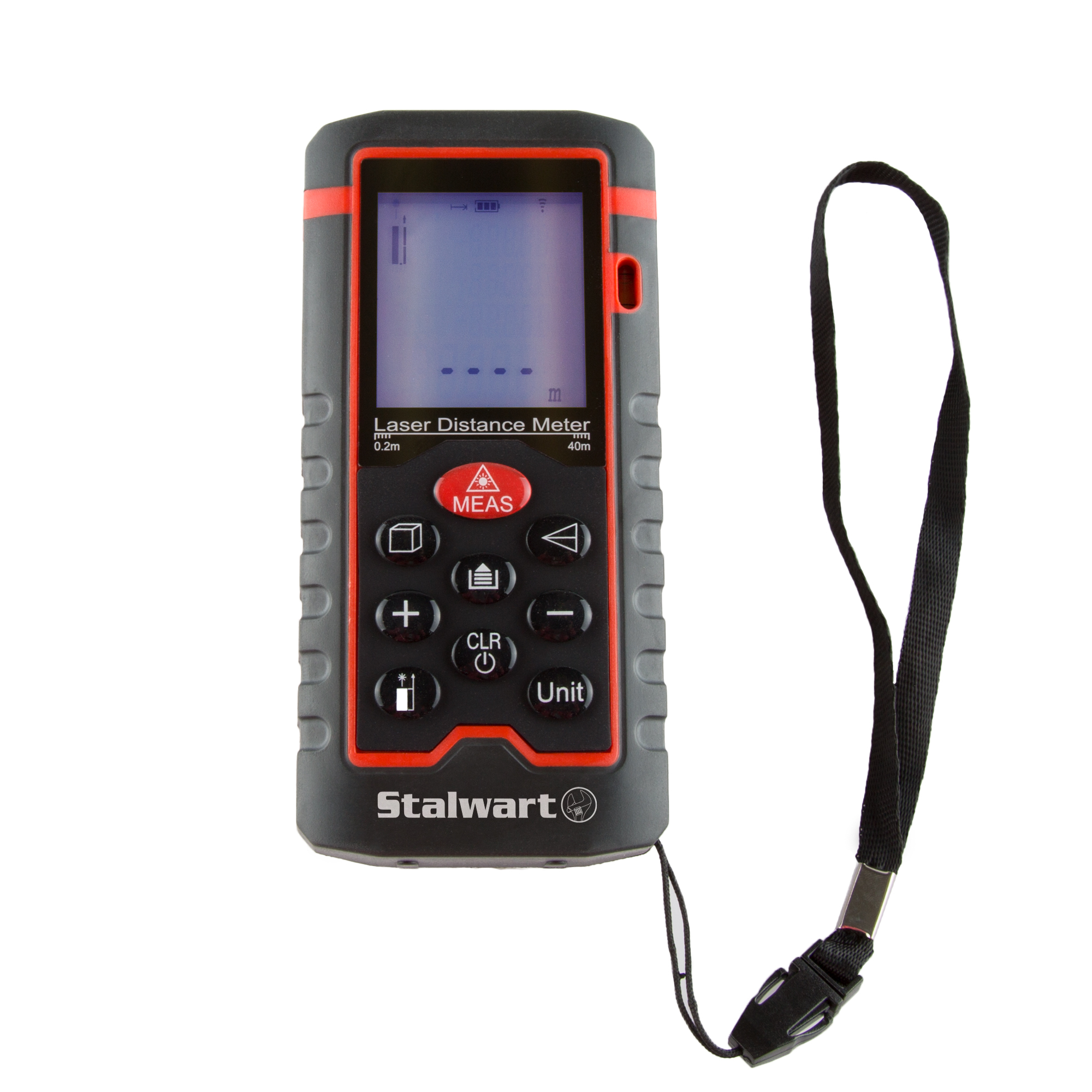 Laser Distance Measuring Tool 40m Range & Backlight Display by Stalwart by Trademark Global LLC