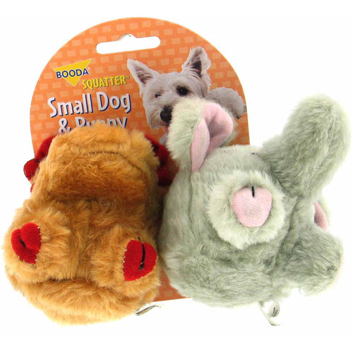 Petmate Doskocil Co. Inc. Moose and Elephant Squatter Dog Toy, Small, 2-Pack