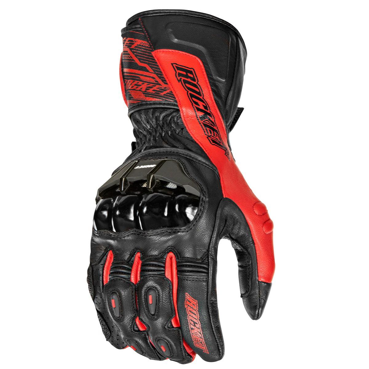 Joe Rocket Flexium TX Mens Red/Black Leather Motorcycle Gloves