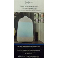 Mainstays Cool Mist Ultrasonic Aroma Oil Diffuser, White