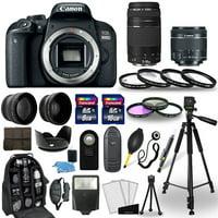 Canon EOS 800D DSLR Camera + 18-55mm STM + 75-300mm + 30 Piece Accessory Bundle