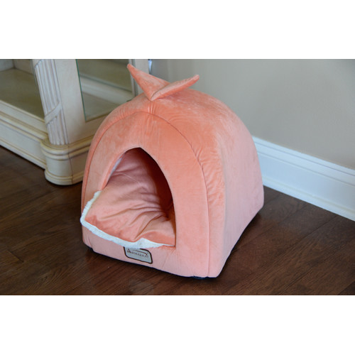 Armarkat Cat Bed C10HCS/MB, Orange and Ivory